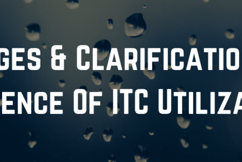 Changes & Clarifications On Sequence Of ITC Utilization